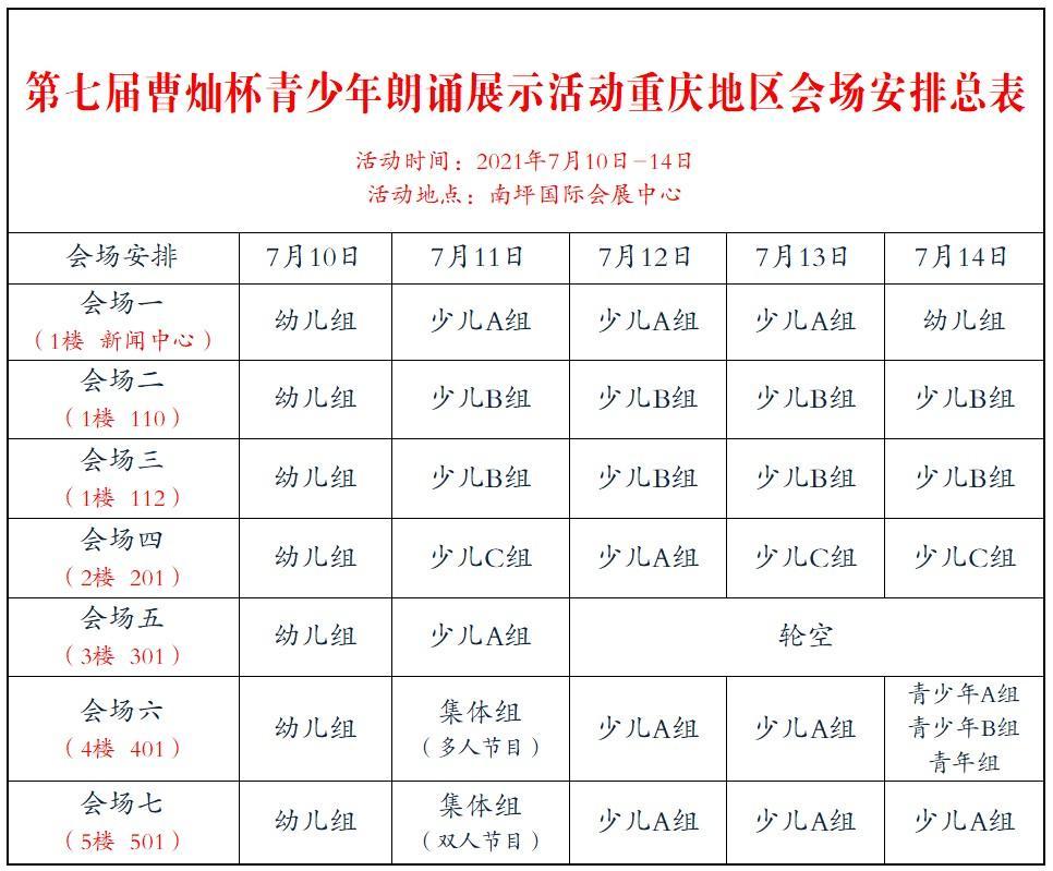 """第七届""""曹灿杯""""重庆地区决赛,查询你的序次和场地,35名评委坐镇国际会展中心 第36张"""
