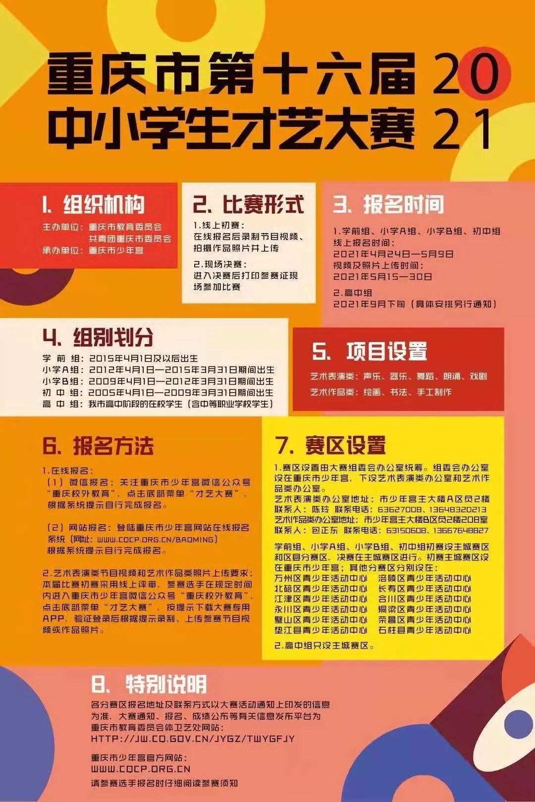 重庆市第十六届中小学生才艺大赛开始报名啦! 第10张