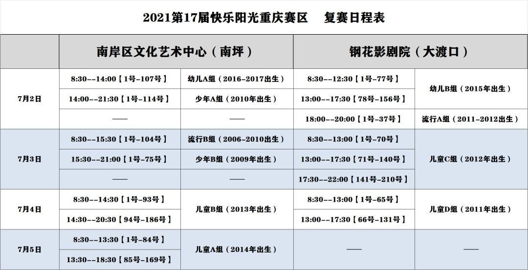 2021第17届快乐阳光全国少歌赛【重庆赛区】复赛比赛通知 第1张