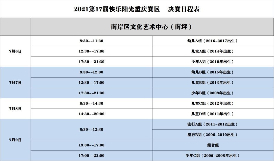 2021第17届快乐阳光全国少歌赛【重庆赛区】复赛比赛通知 第4张