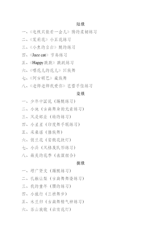"""中国舞蹈家协会""""中国舞蹈考级""""2021年重庆考区考级工作实施细则 第10张"""