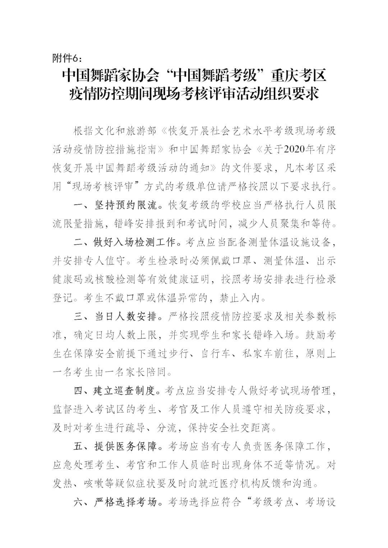 """中国舞蹈家协会""""中国舞蹈考级""""2021年重庆考区考级工作实施细则 第22张"""