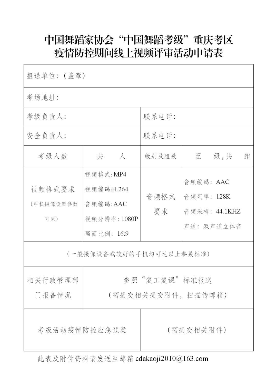 """中国舞蹈家协会""""中国舞蹈考级""""2021年重庆考区考级工作实施细则 第30张"""